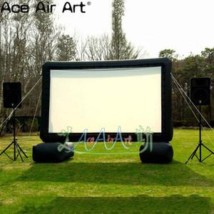 4m H TV modello gonfiabile dello schermo di film per cantiere, schermo cinematografico gonfiabile portatile con il ventilatore Air