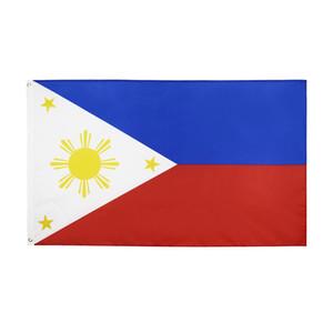 Filipinas Banner 3 pies x 5 pies colgantes 150x90cm cubierta Bandera nacional de poliéster Filipinas bandera al aire libre para la celebración