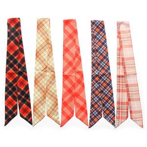 Kopf Schal Twilly Silk kleine Bänder Halstuch Lange Frauen-Dame Tie Drucken 100cm - 5cm Slender Narrow Band