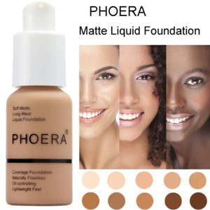 Phoera Perfect Beauty 30ml Liquid Foundation Base Soft Matte Long Wear Control Control Controaler Foundation Cream Women Trucco
