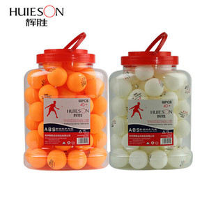 Huieson 60Pcs barrel Professional 3 Star Table Tennis Ball D40+mm 2.8g ABS New Material Plastic Ping Pong Ball for Club Training T190927