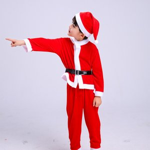 Ensemble de vêtements pour enfants Christmas Baby Boys Girls Costume et robe de Noël Costumes du Père Noël Costumes du Nouveau-né Enfant Vêtements 4-16Y