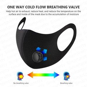 Yetişkinler yüz maskesi Pm2. 5 maske havalandırma değeri Ile solunum toz geçirmez anti-bakteriyel yıkanabilir dayanıklı buz Ipek Sünger maskeleri DHL ücretsiz E4906