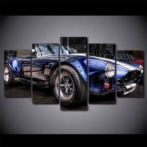 Ford Shelby Cobra, impresión en lienzo HD de 5 piezas Nueva pintura casera del arte de la decoración / sin marco / enmarcado