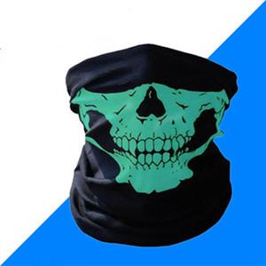 Cycling Bandanas Skull Face Mask Halloween Magic Scarves Outdoor Sport Magic Turban Neckerchief Headband ZZA2373 Ocean Shipping