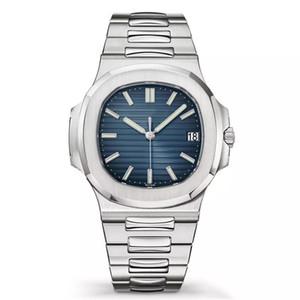 14 색 Nautlus 시계 남성 자동 시계 5711 실버 스트랩 블루 스테인레스 스틸 남성 기계 Ourlogio 디 루소 손목 시계