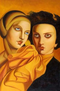 Tamara de Lempicka menina Home Decor pintado à mão HD Pinturas Imprimir óleo sobre tela Wall Art Pictures 191130