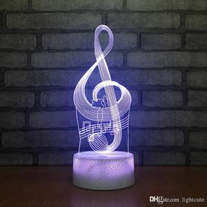 Distance 16 couleurs Creative Hatsune Miku Music Note 3D Lampe de table LED Night Light Chambre Sommeil Luminaires Décoration Cadeaux