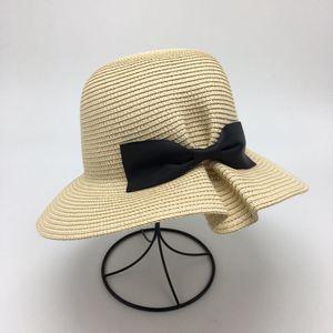 Avare Brim chapeaux de soleil arc féminin chapeau Chapeau de paille en ligne protection UV Voyage en plein air deux types de couleurs à vendre