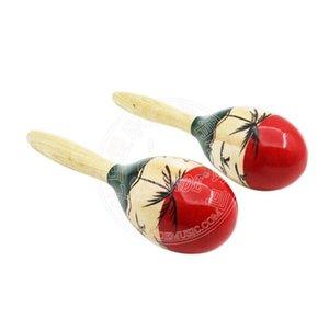 1 par 2pcs Maraca 7,17 * 24.5cm instrumentos de madeira Orff musicais instrumentos educativos
