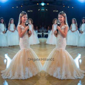 Sereia vestido da menina flor formal do partido dos miúdos Prom Wedding Pageant vestido de baile Primeiras Comunhão Vestidos 2020