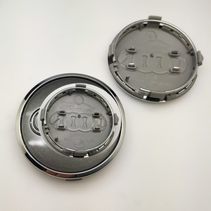4PCS ل A * Di Wheel Hub Cap Center Cover Cover 61mm ABS HUB غطاء شعار ل A3 / A4L / Q3 / Q7 # 4M0 601 170