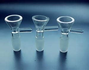 Bol QBsomk pour bongs en verre entonnoir bols Tuyaux 5mm épais diapositives bang fumer pièce capiteux grossistes enneigés pièces de plates-formes pétrolières 14mm 18mm glisser
