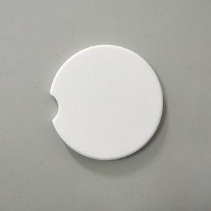 Sublimazione sottobicchiere di ceramica auto Coaster per il trasferimento fai da te di stampa di scambio di calore termica tazza del rilievo 6,6 centimetri Mat ceramica