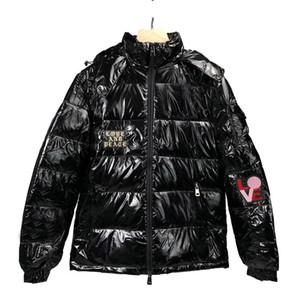 Chaqueta para hombre de Down alta calidad mujeres de los hombres de invierno para hombre Parka Hip Hop Desigenr abrigos de invierno Negro