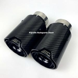 Puntas de escape universal M de fibra de carbono del envío libre 1pcs para el tubo de escape M Performance para las puntas de carbono brillante