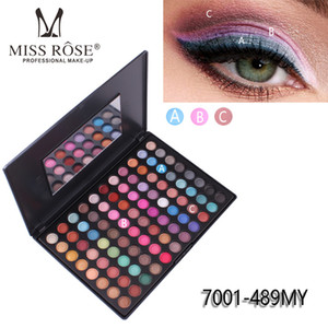 MISS ROSE 88 Color Mate Sombra de ojos Paleta de colores a prueba de agua Mate Sombra de ojos Cosmética Brillo Sombra de ojos Pigmento de ojos Paleta de maquillaje