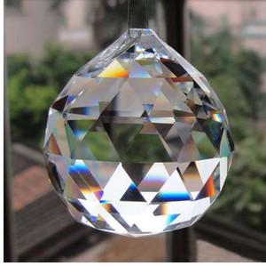 5 Pçs / lote 30mm Bola Prisma Lustre de Cristal De Cristal De Vidro Facetado