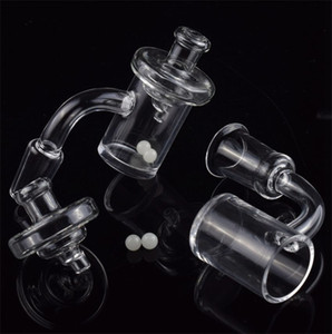 DHL 25mm Honey Bucket 45 90 degree Quartz Banger & UFO Carb Cap Terp Pearl Quartz Nail 10mm 14mm 18mm for Dab Rig Bongs
