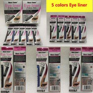Müzik Çiçek Eyeliner GERÇEK PEN 5Color Eyeliner Uzun ömürlü su geçirmez eyeliner kalemi yüksek kaliteli DHL ücretsiz gönderim astar sıvı Göz