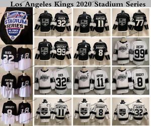 2020 ملعب سلسلة لوس انجليس الملوك هوكي الفانيلة 11 أنزه كوبيتار 32 جوناثان كويك 8 درو دوتي جيف كارتر 99 اين Gretzky خمر
