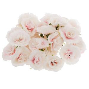 50 pcs seda artificial Rosas Cabeça de Flor Cabeça de decoração de festa de casamento em massa - rosa