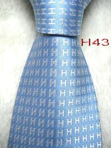 Cravate Cravate HH1 # 100% soie tissée à la main en jacquard pour hommes