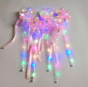 Doğum Prenses Kostüm Cadılar Bayramı Çocuk oyuncak için YENİ Işıklı Magic Ball Wand Glow Stick Witch Sihirbazı LED Sihirli Asalar Rave Oyuncak Büyük