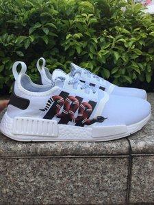 2020 NMD Runner R1 Primeknit Triple black White Bee nmds designer Running shoes For Men Women OREO NMDS Runner Sports sneakers EUR 36-45