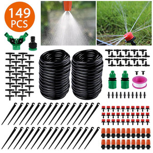 Irrigation Kit DIY Automatic Drip Irrigation Garden Watering Device Kits 4 7 capillaries 30m Water Irrigation Watering Hose Tool Kit