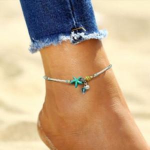Shell ножной браслет жемчуг бусины Морская звезда ножные браслеты для женщин ног браслет мода ручной работы босиком сандалии заявление браслет ноги бохо ювелирные изделия