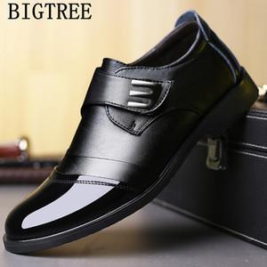 chaussures pour hommes formels de véritables chaussures en cuir hommes chaussures italiennes d'affaires de la mode + mâle oxford Zapatos Vestir hombre Cuero