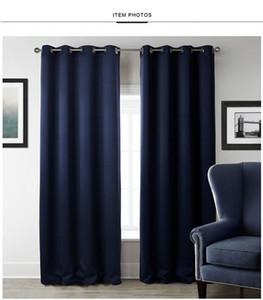 New Modern Blackout cortinas para tratamiento de ventanas Persianas Terminado cortinas de ventana del apagón cortina para la sala Las persianas del dormitorio