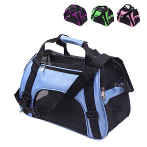 Dobrável Dog Slung Pet Carriers Bag portátil Mochila macia Transporte exteriores sacos de moda Dogs Basket Handbag RRA1996