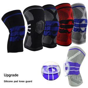 1 unidad de mejora de la rodilla rodillera de primavera Protector de rodilla de silicona Brace Apoyo de la manga de la rodilla Baloncesto fútbol fitness Deportes Respirable protector