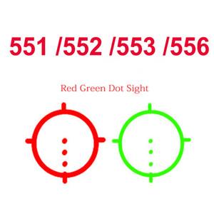 551 552 553 556 Rotpunktvisier Holographic Scope Collimator Reflexvisier mit 20mm QD Berg Softair Gewehr Jagd