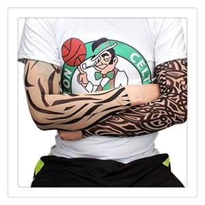 Tattoo Vestuário Hot Tattoo mangas braço Unisex UV Correndo Cycling Sports Elasticidade Compression Arm Warmer aquecedores Basketball Braço mangas