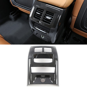 Car Accessories Rear Back Air Vent Outlet Panel Cover Frame Sticker Trim Interior Decoration for BMW X3 G01 X4 G02 2018-2020