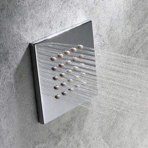 """100mm in-mur dissimulé grand pulvérisateur jet de pluie body jets jets de massage salle de bain spa pommeau de douche chrome douche pulvérisateur 4 """""""