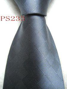 P233 #100%Silk Jacquard Woven Handmade Men's Tie Necktie