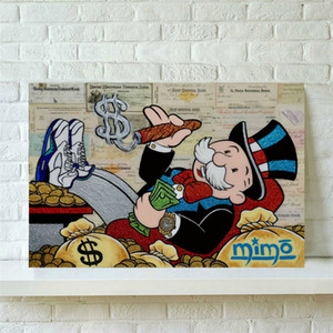 (Unframed / Framed) 1 Pintura Pieces Canvas Wall Art Oil Home Decor Pegasus Unicorn Fantasia Alec Monopoly The Rainmaker 24x36.
