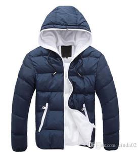 Hiver Hommes Vestes Manteau chaud Hommes Manteau Sport Veste d'hiver vers le bas Parkas Pardessus Homme Solide Couleur
