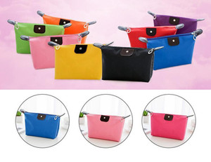 Cosmetic Bag Old Cobbler College Girl Cosmetic Bag Nylon Cloth Color Wash Bags Stylish Zipper Small Bag EEA1300-5