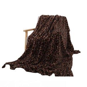 Faux Fur Fleece Blanket Leopard Sherpa Plush Blankets Winter Flannel Blanket For Beds Soft Warm Bedspread Travel Throw