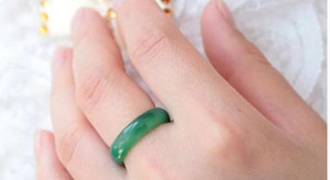 100% natural fine jade in Myanmar mix size ring + free shipping 10pcs