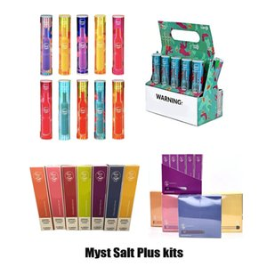 100% Original Myst Salt Plus Disposable Device Kit 650mAh 280mAh Battery 1000+Puffs Pre-filled 3.2ml Empty Pod Cartridges Vape Pen Genuine