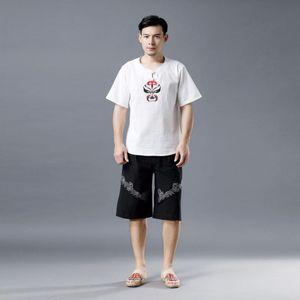 Homens Verão Yoga Pant linho rapidamente seco solto perna larga Sweatpant Jogger Exercício Gym Workout Correndo Casual Pant Sportsweear