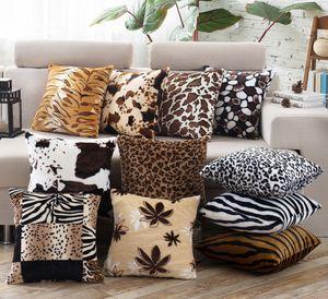Tiermuster Kissenbezug Leopard Zebra Kissen Kissenbezüge Platz Super Soft Throw Kissenbezüge Kissenbezug für Bench Couch Sofa