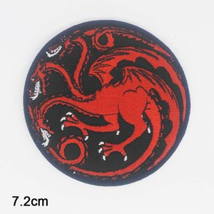2019 New Arrival Dragon Game of Thrones Iron On Novelty Embroidered Clothes Patch For Clothing Boys Man Girl Punk Patch