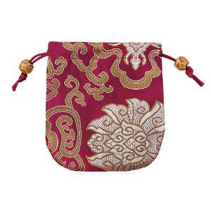 10,5 * 10,5 cm Traditionelle Seide Reisetaschen Stickerei Schmuck Verpackung Geschenke Taschen Handgemachten Schmuck Beutel